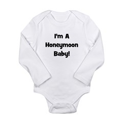 I'm A Honeymoon Baby! - Black Long Sleeve Infant B