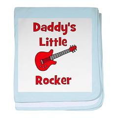 Daddy's Little Rocker with Gu baby blanket
