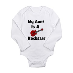 My Aunt Is A Rockstar Long Sleeve Infant Bodysuit