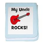 My Uncle Rocks! (guitar) baby blanket