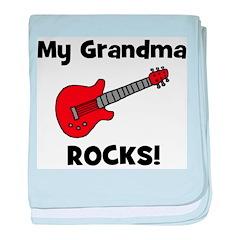 My Grandma Rocks! (guitar) baby blanket