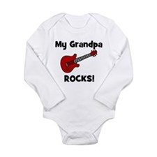My Grandpa Rocks! (guitar) Long Sleeve Infant Body