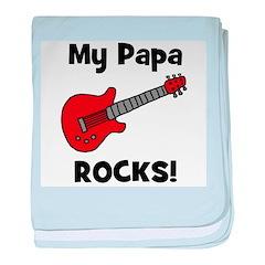 My Papa Rocks! (guitar) baby blanket