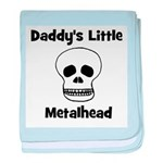 Daddy's Little Metalhead baby blanket