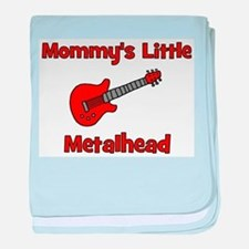 Mommy's Little Metalhead. baby blanket