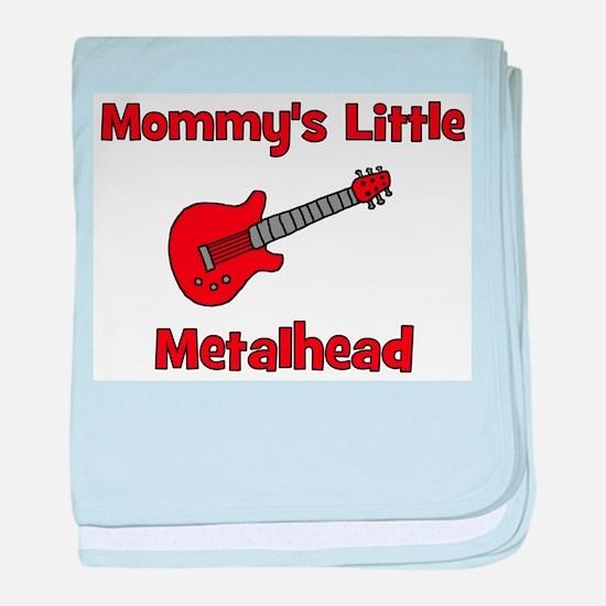 Mommy's Little Metalhead. baby blanket