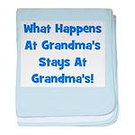 What Happens At Grandmas Blue baby blanket