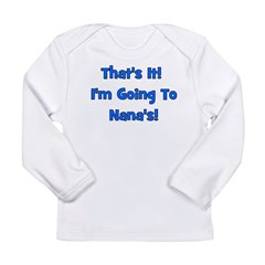 Going To Nana's! Blue Long Sleeve Infant T-Shirt