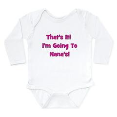 Going To Nana's! Pink Long Sleeve Infant Bodysuit