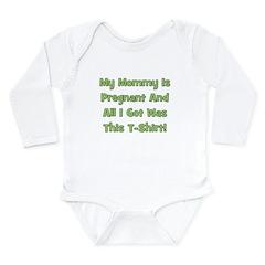 Mommy Pregnant green Long Sleeve Infant Bodysuit