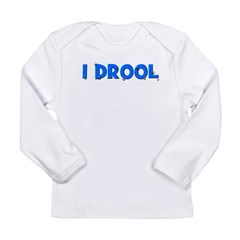 I Drool - Blue Long Sleeve Infant T-Shirt