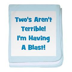Two's Aren't Terrible... (blu baby blanket