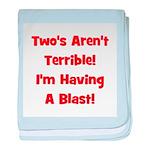 Two's Aren't Terrible... (red baby blanket