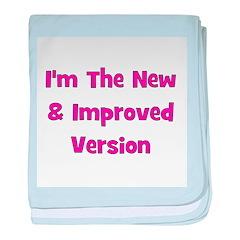 New & Improved Version - Pink baby blanket