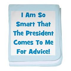 Presidential Advice - Blue baby blanket
