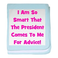 Presidential Advice - Pink baby blanket