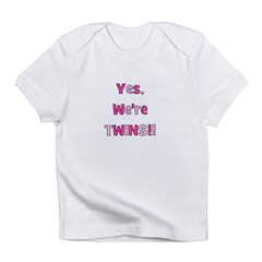 Yes, We're Twins - Pink & Pin Infant T-Shirt