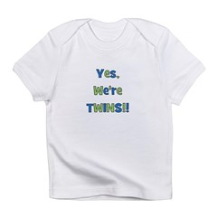 Yes, We're Twins! Blue & Gree Infant T-Shirt