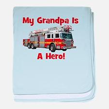Grandpa Is My Hero FireTruck baby blanket