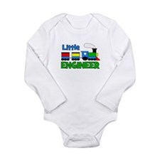 Little Engineer Trains! Long Sleeve Infant Bodysui