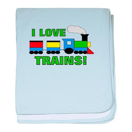 I Love Trains! baby blanket