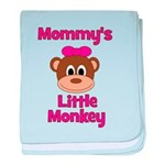 Mommy's Little Monkey baby blanket
