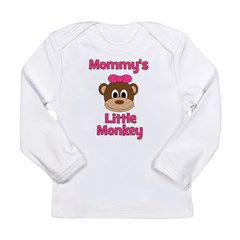 Mommy's Little Monkey Long Sleeve Infant T-Shirt