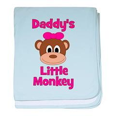 Daddy's Little Monkey baby blanket
