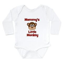 Mommy's Little Monkey Long Sleeve Infant Bodysuit