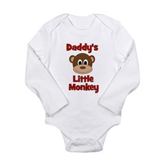 Daddy's Little Monkey Long Sleeve Infant Bodysuit
