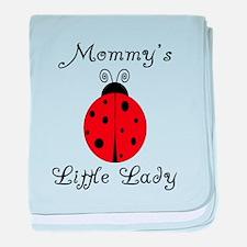 Mommy's Little Lady - Ladybug baby blanket