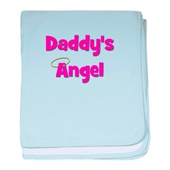 Daddy's Angel - Pink baby blanket