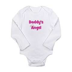 Daddy's Angel - Pink Long Sleeve Infant Bodysuit