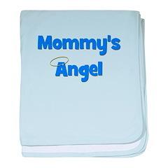 Mommy's Angel - Blue baby blanket