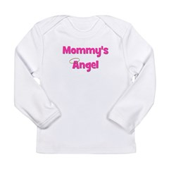 Mommy's Angel - Pink Long Sleeve Infant T-Shirt