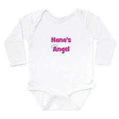 Nana's Angel - Pink Long Sleeve Infant Bodysuit