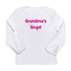 Grandma's Angel - Pink Long Sleeve Infant T-Shirt
