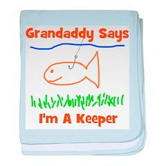 Grandaddy Says baby blanket
