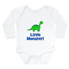 Little Monster - Dinosaur Long Sleeve Infant Bodys