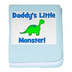 Daddy's Little Monster - Dino baby blanket