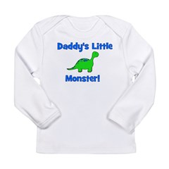 Daddy's Little Monster - Dino Long Sleeve Infant T