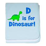 D is for Dinosaur! baby blanket