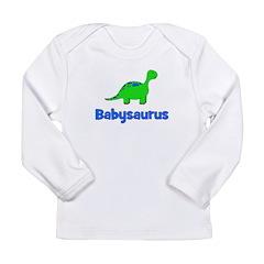 Babysaurus dinosaur Long Sleeve Infant T-Shirt
