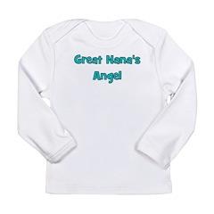 Great Nana's Angel. Long Sleeve Infant T-Shirt
