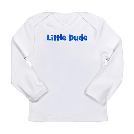 Little Dude - Blue Long Sleeve Infant T-Shirt