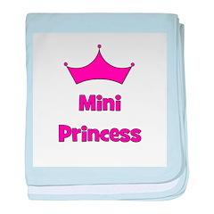 Mini Princess w/ Crown baby blanket