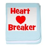 Heart Breaker with heart baby blanket