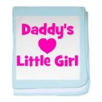 Daddy's Little Girl with hear baby blanket