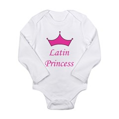 Latin Princess Long Sleeve Infant Bodysuit