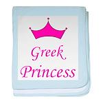 Greek Princess with Crown baby blanket